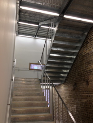 Galvanised staircase, Steel stairs, London, Central London, Koyda.com, Architecture, Construction